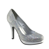 Formal Shoes - Touch Ups Candice-396 Silver Glitter Platform