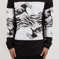 SW069 Great Wave Sweater - Black