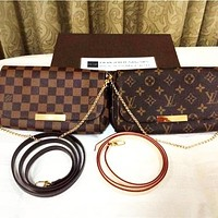 LV Louis Vuitton Fashion Women Leather Shoulder Bag Handbag Crossbody Satchel