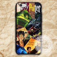 Harry Potter All Books iPhone 4/4S, 5/5S, 5C Series, Samsung Galaxy S3, Samsung Galaxy S4, Samsung Galaxy S5 - Hard Plastic, Rubber Case