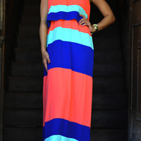 Fresh Off The Color Block Maxi Dress | Hope's