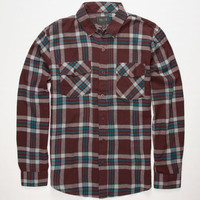 Valor Red Stag Mens Flannel Shirt Burgundy  In Sizes