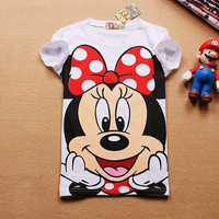 21 Colors T shirt New Brands Cartoon Mouse White Cotton Women T shirts Flag Owl Duck Casual Tops Ladies Hot Sale Tees 1187