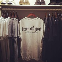 qiyif Fear of God Print  Tees