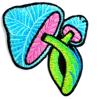 """Magic Mushroom Psychedelic Iron On Embroidered Patch 3""""/8cm"""