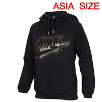 Original New Arrival NIKE RALLY HOODIE METALIC Women's Pullover Hoodies Sportswear