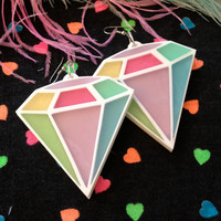 Pastel Diamond Earrings