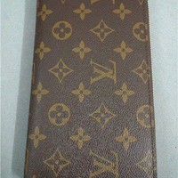 One-nice™ Authentic Louis Vuitton Womens Purse Brown Canvas Long Zippy Wallet