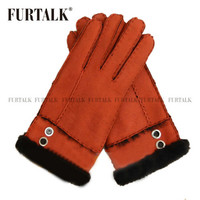 womens wrist fashion lamb skin leather winter gloves for women
