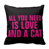 All you need is LOVE and a CAT pillows