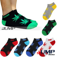 1 Pair New Brand Summer DGK weed Leaf socks ankle men women short sport Boat socks 6 Color
