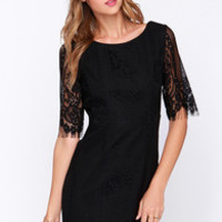 Kiss and Run Black Lace Dress