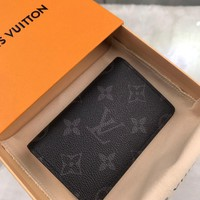 Kuyou Lv Louis Vuitton Gb19710 M61696 Monogram Eclipse Canvas Small Leather Goods Key & Card Holders Pocket Organizer 8x11cm