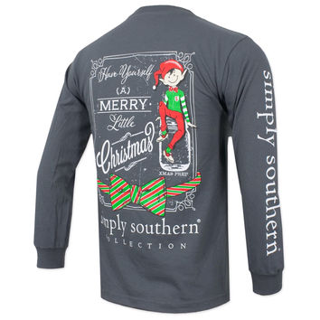 """Simply Southern Gray """"Elf"""" Long Sleeve"""