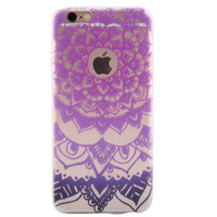 Newest Customized Purple Hollow Lace Case Cover for iPhone 7 7 Plus & iPhone 5s se & iPhone 6 6s Plus + Gift Box-463