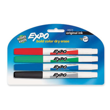 Expo Original Dry Erase Pen-Style Markers, 4 Colored Markers