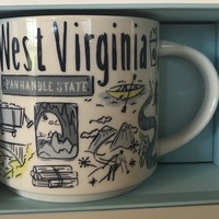 Starbucks Been There Series Collection West Virginia Coffee Mug New With Box