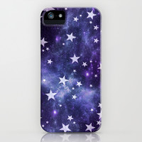 *** ALL MY LOVELY  STARS  *** PURPLE iPhone & iPod Case by Monika Strigel for iphone 5c, 5s, 5, 4s, 4, 3gs, 3g, ipod touch & Samsung Galaxy