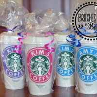 Personalization on Reusable Starbucks Cups with Lids - *NEW* Options for Monogram on Lid!