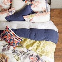 Woodblock Floral Quilt in Multi