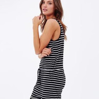 SIMPLE - Summer Stripes Printed Backless Shorts a12007
