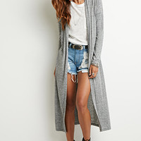 Longline Heathered Cardigan