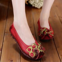 Handmade Genuine Leather Shoes For Women