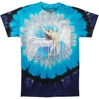 Led Zeppelin Men's  Swan Song Tie Dye T-shirt Multi