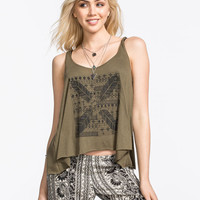 Billabong Find A Way Womens Tank Olive  In Sizes