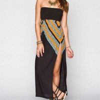 Rip Curl Gypsy Queen Convertible Maxi Skirt Black  In Sizes