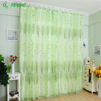 Home Textile Tree Window Curtains Blinds Voile Tulle Shower Curtain Sheer Panel Drapes For Bedroom Livingroom Decoration