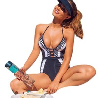 One Piece Swimsuit with Push Up Pad