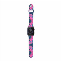 "Jane Smith ""Hamsa"" Pink Pattern Apple Watch Strap"