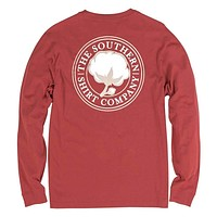 Signature Logo Long Sleeve Tee in Tandori Spice by The Southern Shirt Co.