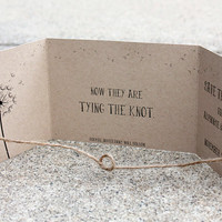 Tying the Knot Save the Date set of 110, handmade by me Kraft Save Date, Rustic Save the Date, Gatefold Save the Date, Knot Save the Date