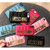 Moschino iPhone 7  8 iPhone 7 8 plus - Trending Cute Metal Logo Phone Case For iphone 6 6plus  iphone X(4-Color)