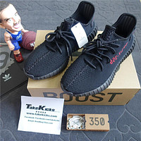 Tagre™ Original Adidas Yeezy 350 V2 Core Black Red Bred Boost Low SPLY CP9652