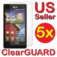 5x LG Lucid 4G VS840 Premium Invisible Clear LCD Screen Protector Kits (5 pieces)