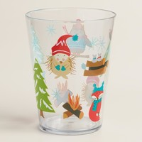 Acrylic Woodland Critters Tumblers, Set of 6
