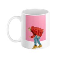 Drake Hotline Bling Dancing Pink White Mug