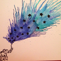 Celestial Elephant Melted Crayon Art by BohemianGeekery on Etsy
