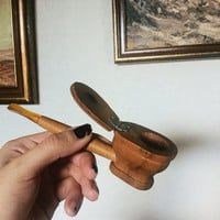 1950s toilet bowl tobacco pipe | novelty art deco pipe