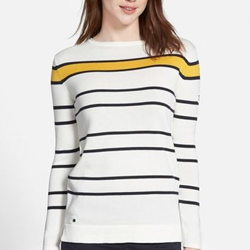 Women's Barbour 'Burnmouth Crew' Stripe Cotton Sweater
