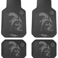 Star Wars Darth Vader with Galactic Empire Logo Car Truck SUV Front & Rear Seat Rubber Floor Mats - 4PC