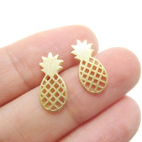 Earrings fFashion Jewelry Pineapple Stud Earrings for  Party Gifts