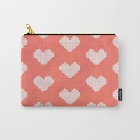 Heart X Red Carry-All Pouch by Fimbis