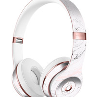 Mixtured Pink and Gray 24 Textured Marble Full-Body Skin Kit for the Beats by Dre Solo 3 Wireless Headphones