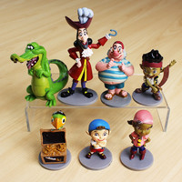 Anime Cartoon Jake and The Neverland Pirates PVC Action Figure Toys 7pcs/set Free Shipping