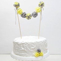 Cake Topper Pom Pom Garland  - Wedding, Birthday, Bridal Shower, Baby Shower