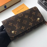 Hipgirls Louis Vuitton LV Hot Sale New Products Women's Full Letter Embossed Flap Shoulder Bag Shopping Bag